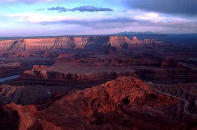 Photo: The Colorado River winds its way through the canyons of Deadhorse Point State Park, UT.