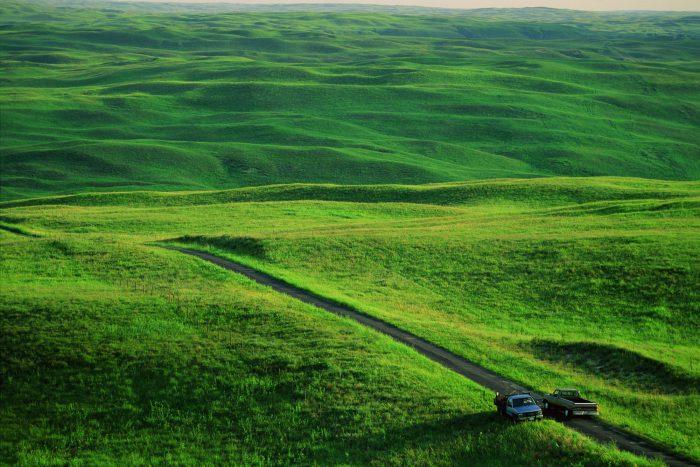"Photo: The ""Sandhills Grapevine"" at work in rural Nebraska."