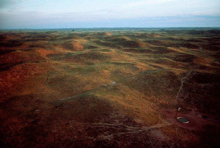 Photo: Aerial of Nebraska's Sandhills.