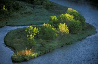 Photo: A scenic view of Valentine River in Nebraska.