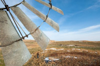 Photo: A windmill on a ranch in the Nebraska Sandhills.
