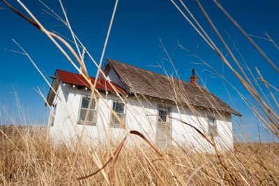 Photo: An abandoned one-room schoolhouse on a ranch in the Nebraska Sandhills.