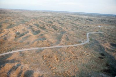 Photo: An aerial of the Nebraska Sandhills.