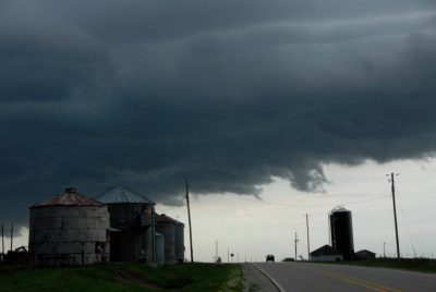 Photo: Clouds form and a storm begins in Iowa.