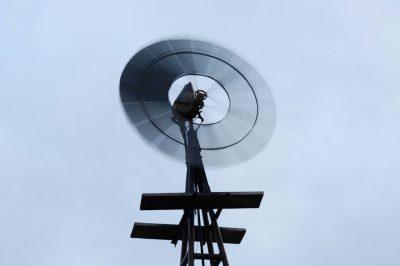 Photo: A windmill turns near Laverne, OK.