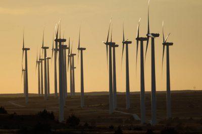 Photo: A windmill farm near Laverne, Oklahoma.
