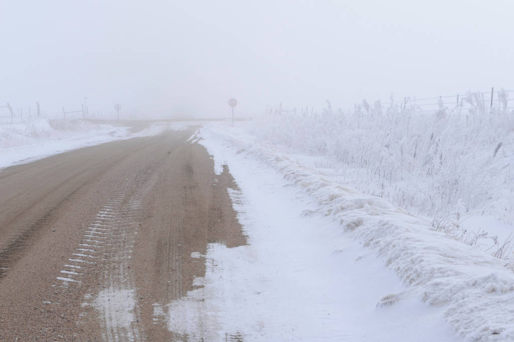 Photo: Outdoors after a winter snowstorm in rural Nebraska.