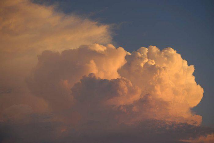 Photo: Cumulonimbus clouds in Nebraska.