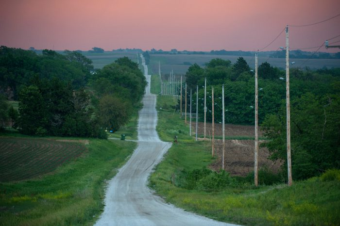 Photo: A country road near Otoe, Nebraska.