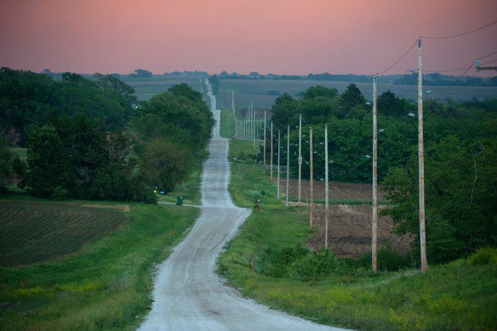 Photo: A country road near Otoe, Nebraska.