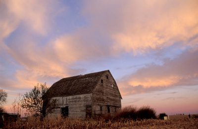 Photo: An abandoned farm building in eastern Nebraska.