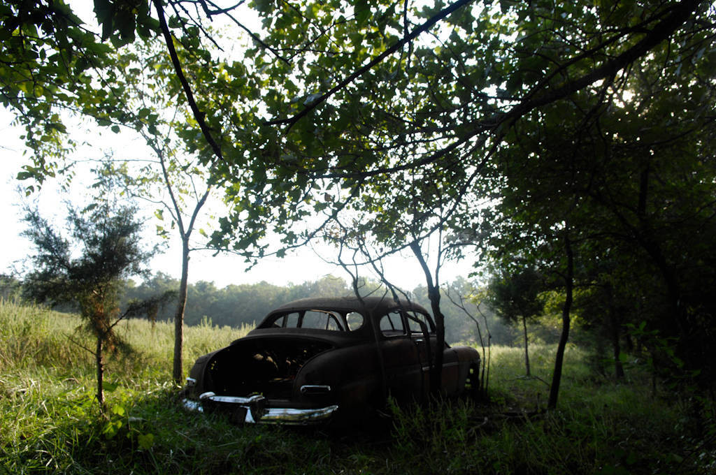 Photo: Abandoned car on the edge of a field in southeast KS.