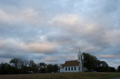 Photo: A rural church near Fairbury, NE.