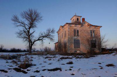 Photo: Stone farmhouse (abandoned) near Ashland, NE.
