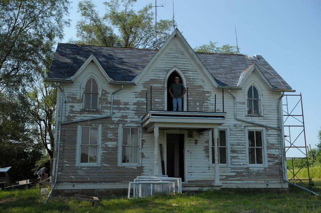 Photo: The inside of an old farmstead.