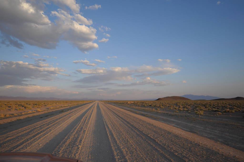 Photo: On the road near Austin, Nevada.