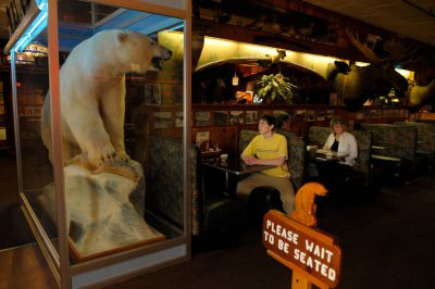 Photo: A teenage boy inside Ole's Big Game Bar and Grill in Paxton, Nebraska.