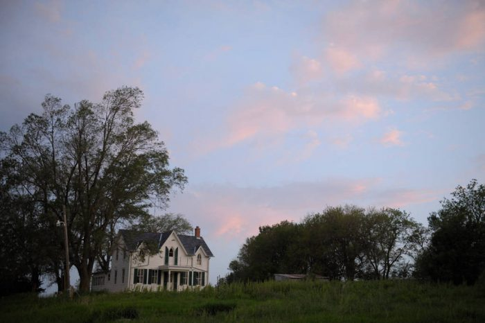 Photo: A historic, gothic-style farmhouse in southeastern Nebraska.