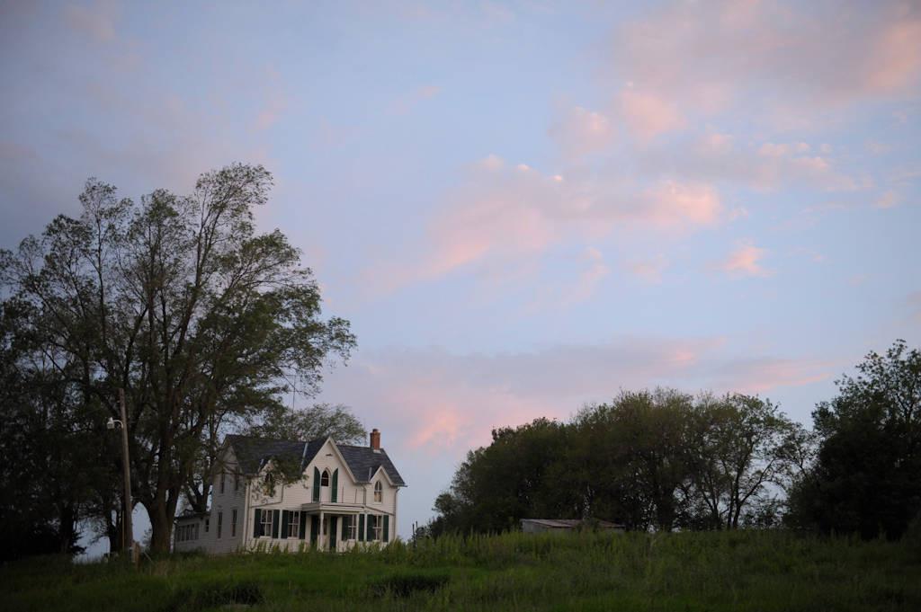 Photo: A historic, gothic-style farmhouse in southeastern Nebraska.