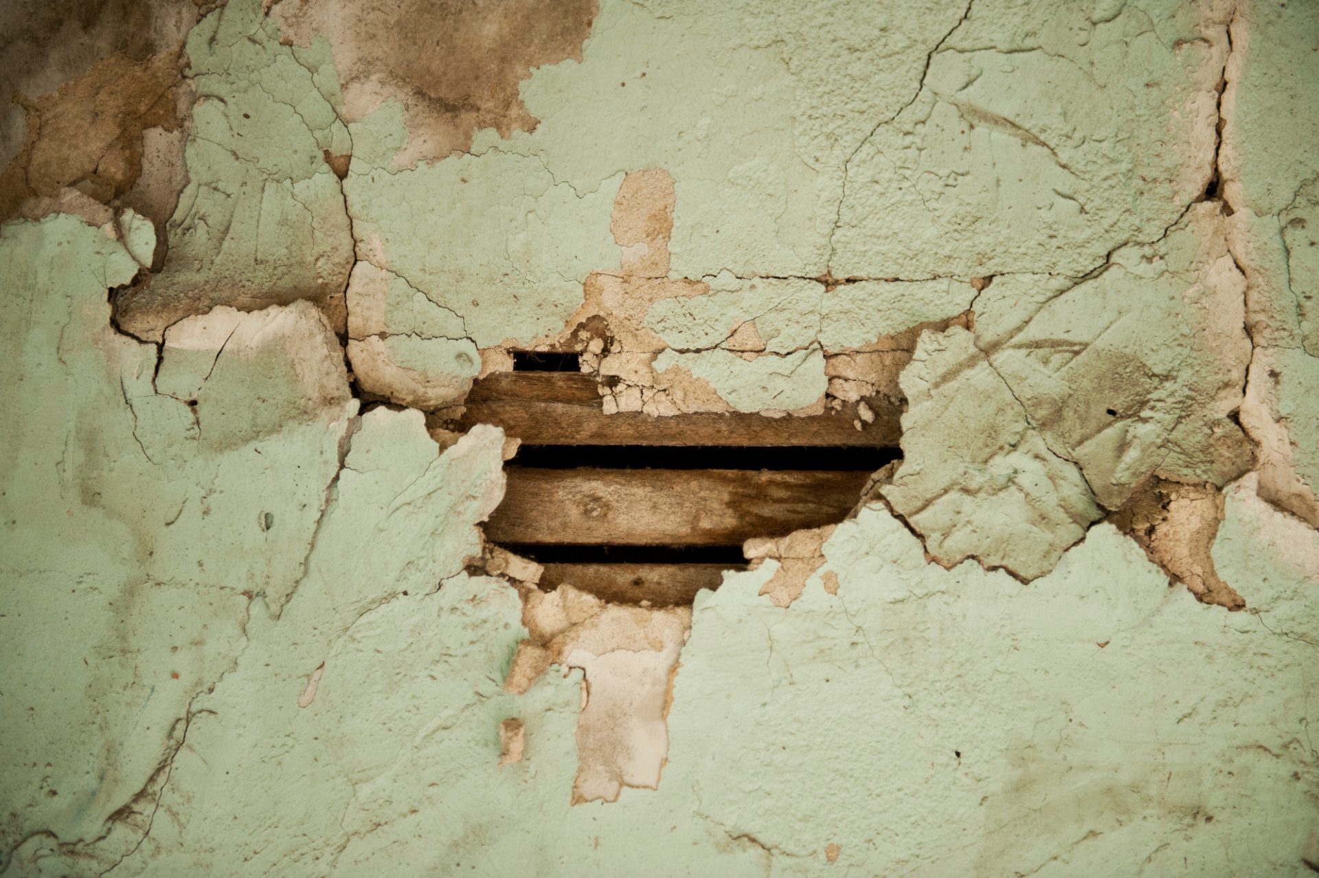 Photo: A deteriorating wall in an abandoned house in Otoe County, Nebraska.