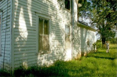Photo: The farmhouse near Dunbar, NE before restorations.