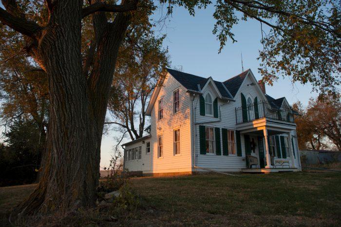 Photo: A rural farm house.