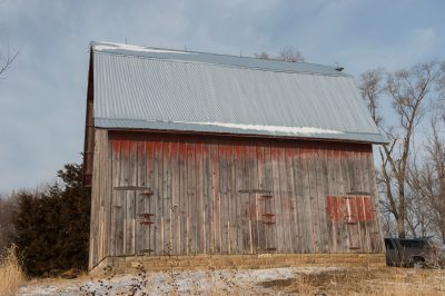 Photo: A new roof on an old barn in Dunbar, Nebraska.