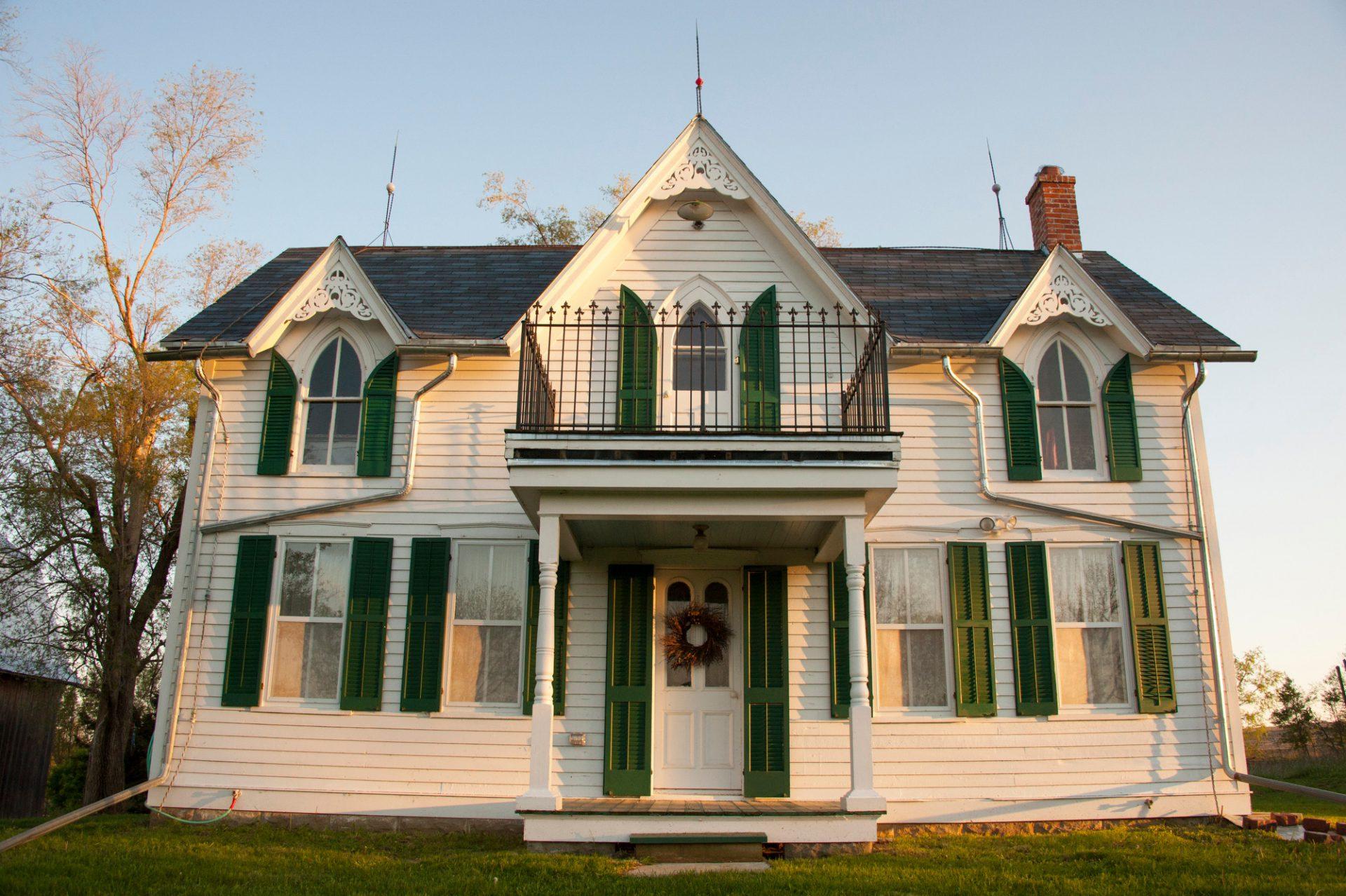 Photo: An old farm house in Dunbar, Nebraska.