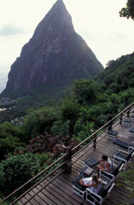 Photo: The Pitons in St. Lucia in the Caribbean.