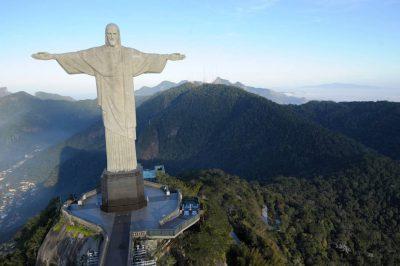 Photo: Christ the Redeemer Statue overlooks Rio de Janeiro, Brazil.