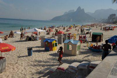 Photo: A scenes from Ipanema Beach in Rio de Janeiro.