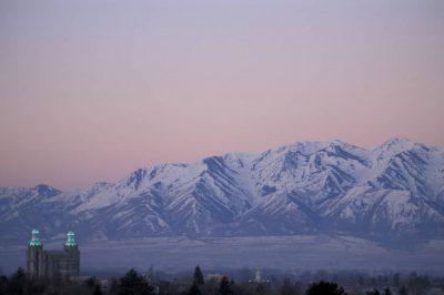 Photo: Mormon temple in Logan, Utah.