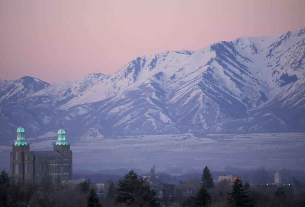 Photo: Mormon temple in Logan, Utah.