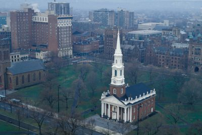 Photo: A church off New Haven Green in New Haven, CT.