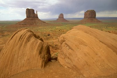 Photo: Rock formation in Monument Valley (Arizona.)