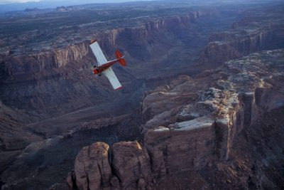 Photo: Aerial of Canyonlands National Park's Needles District, Utah.