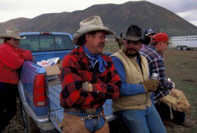 Photo: Cowboys at the Johnson Ranch (on and near the shores of Bear Lake) near Laketown, Utah.