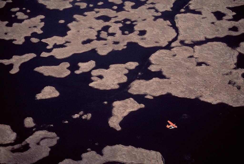 Photo: Aerials of Sabine NWR in Louisiana.