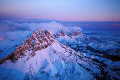 Photo: Aerial of the Rocky Mountain front after one of the first snows of the year.