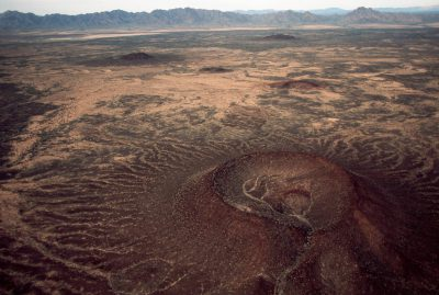 Photo: An inactive volcano at Cabeza Prieta NWR, Arizona.