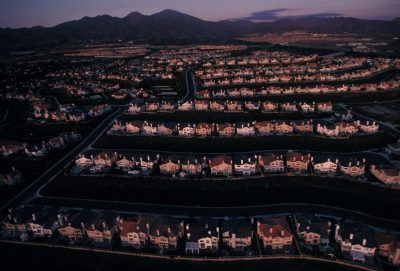 Photo: An aerial of tract homes in the Mission Viejo area of Orange County, California.