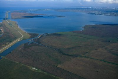 Photo: An aerial showing the massive impact of the oil industry in the Galveston Bay area of Texas.