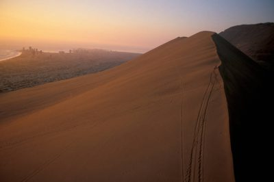 "Photo: ""El Dragon,"" a large sand dune near Iquique, Chile at the edge of the Atacama Desert."
