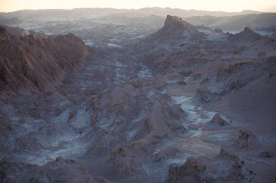 "Photo: The ""Valley of the Moon"" in Chile's Atacama Desert, the driest place on earth."