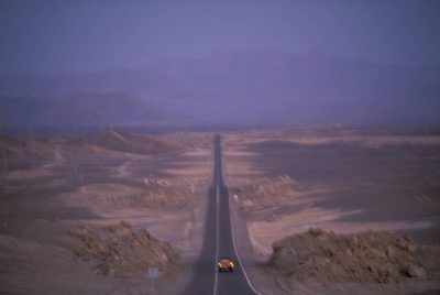 Photo: A road cuts through Chile's Atacama Desert, the driest place on earth.