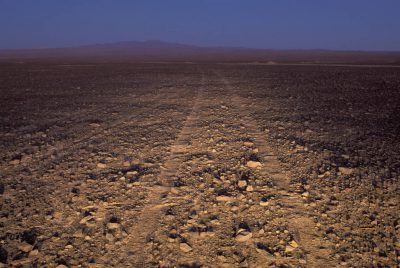 "Photo: A ""road to nowhere"" cuts through Chile's Atacama Desert, the driest place on earth."