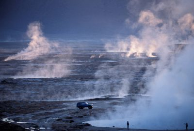 Photo: A high-altitude geyser field in Chile's Atacama Desert.