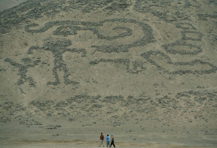 Photo: A geoglyph in the deserts of Arica, Chile.