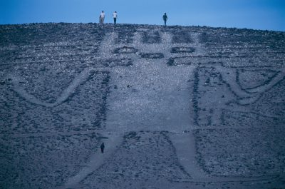 Photo: The Atacama Giant (Spanish: Gigante de Atacama) a 282 ft. tall geoglyph in the Atacama Desert in Cerro Unitas, Chile.