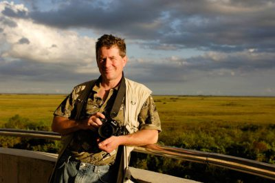 Photo: Joel Sartore in Shark Valley at the north end of Everglades National Park.